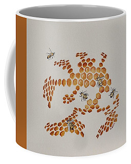 Coffee Mug featuring the painting Bee Hive # 4 by Katherine Young-Beck
