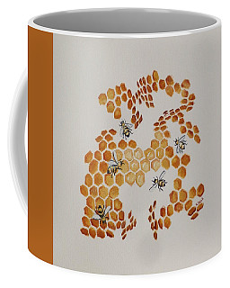 Coffee Mug featuring the painting Bee Hive # 5 by Katherine Young-Beck