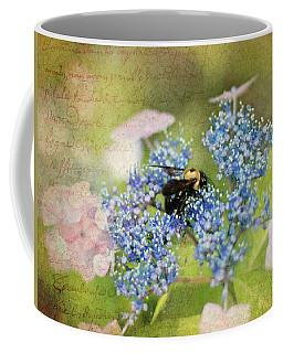 Bee Hydrangea Art Coffee Mug