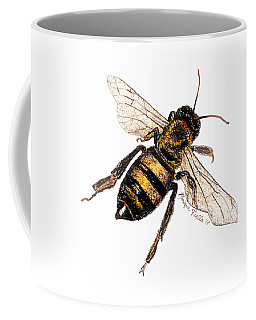 Coffee Mug featuring the painting Bee by Monique Faella