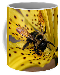 Bee On A Lily Coffee Mug
