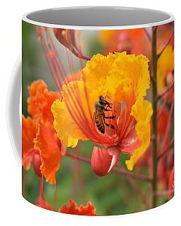Bee Pollinating Bird Of Paradise Coffee Mug