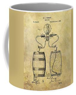 Beer Pump Patent Coffee Mug