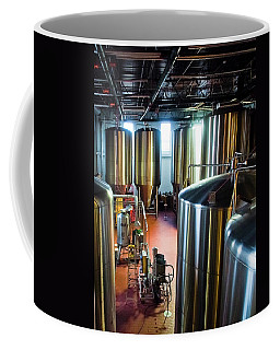 Coffee Mug featuring the photograph Beer Vats by Linda Unger