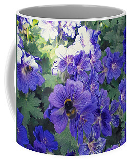 Bees And Flowers Coffee Mug