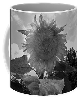 Coffee Mug featuring the digital art Bees On A Sunflower by Chris Flees
