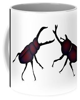 Beetle And Stag Beetle Coffee Mug