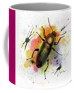 Beetle Illustration Coffee Mug