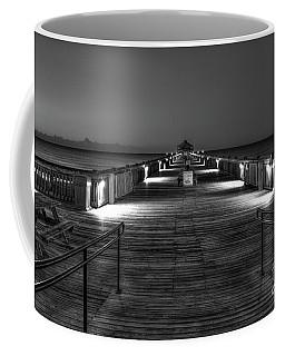Coffee Mug featuring the photograph Before Dawn Folly Beach Pier Charleston Sc Art by Reid Callaway