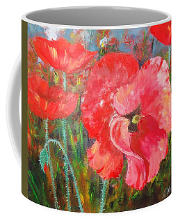 Coffee Mug featuring the painting Before The Storm by Nina Mitkova