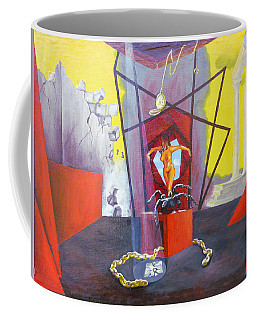 Coffee Mug featuring the painting Beginning To End by Elly Potamianos