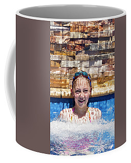 Coffee Mug featuring the photograph Behind The Falls by Linda Lees