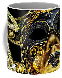 Coffee Mug featuring the photograph Behind The Mask by Carolyn Marshall