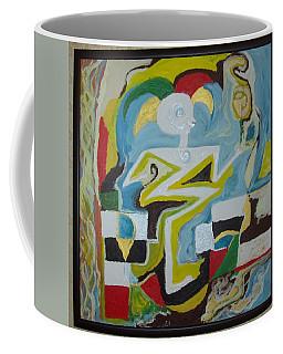Behind The Moon. Artist. Coffee Mug