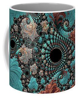 Coffee Mug featuring the digital art Bejeweled Fractal by Bonnie Bruno