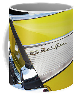 Coffee Mug featuring the photograph Bel Air Tail Fin by Toni Hopper