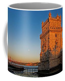 Belem Tower And The Moon Coffee Mug