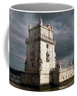 Coffee Mug featuring the photograph Belem Tower In Color by Lorraine Devon Wilke