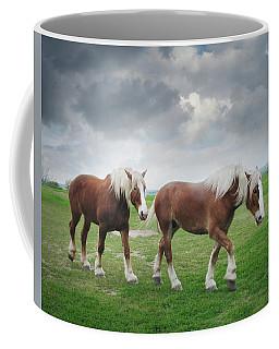 Belgian Horses On A Hilltop Coffee Mug