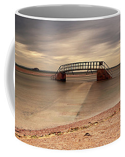 Coffee Mug featuring the photograph Belhaven Stairs And The Bass by Maria Gaellman