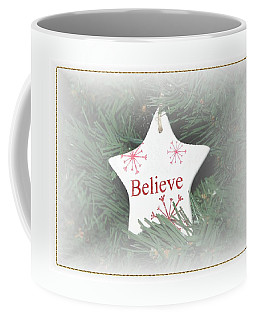 Believe Star Coffee Mug by Ellen O'Reilly