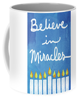 Believe In Miracles- Hanukkah Art By Linda Woods Coffee Mug