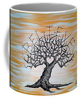 Coffee Mug featuring the drawing Believe Love Tree by Aaron Bombalicki