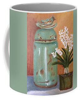 Coffee Mug featuring the painting Bell Jar by Sharon Schultz