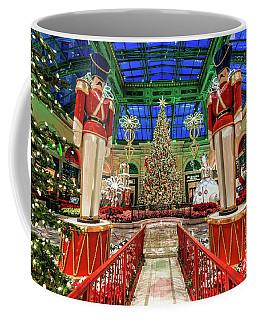 Bellagio Christmas Tree And Nutcrackers At Dawn 2017 Coffee Mug