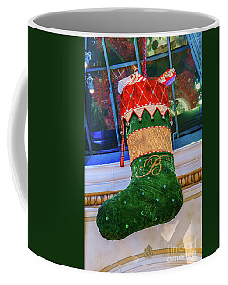 Bellagio Giant Green Christmas Stocking Coffee Mug