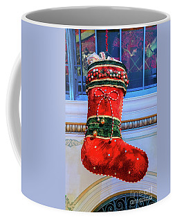 Bellagio Giant Red Christmas Stocking Coffee Mug