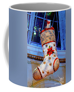 Bellagio Giant White Christmas Stocking  Coffee Mug