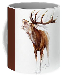 Belling Stag Watercolor Coffee Mug