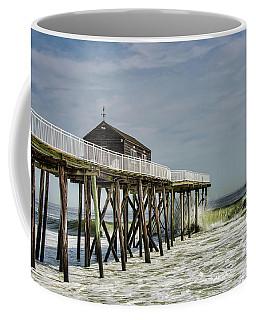 Belmar Fishing Pier Meets Waves Coffee Mug