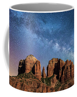 Below The Milky Way At Cathedral Rock Coffee Mug