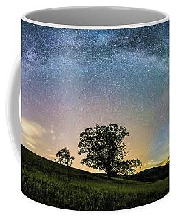 Below The Milky Way At The Blue Ridge Mountains Coffee Mug by Robert Loe