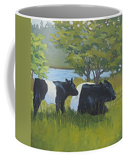 Belted Galloway And Calf Coffee Mug