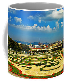 Coffee Mug featuring the photograph Belvedere Palace Gardens by Mariola Bitner