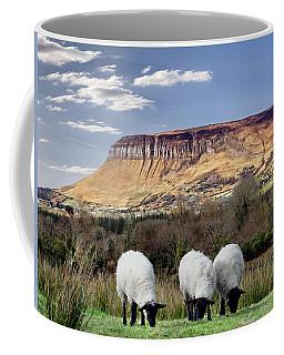 Benbulben, Co. Sligo - Sheep Grazing At The Base Of The Mountain On A Sunny Spring Day Coffee Mug