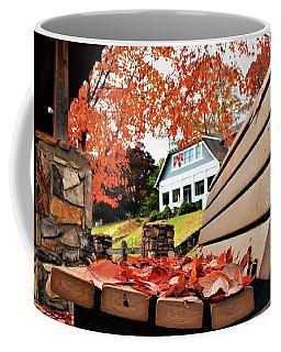 Bench Leaves Coffee Mug