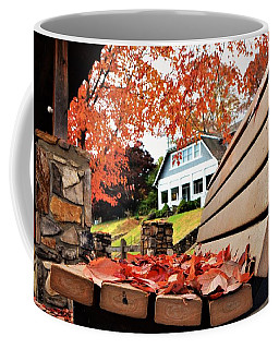 Bench Leaves Coffee Mug