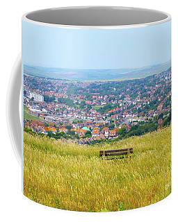 Bench View From Hill Top Coffee Mug