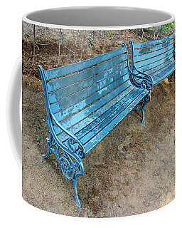 Coffee Mug featuring the photograph Benches And Blues by Prakash Ghai