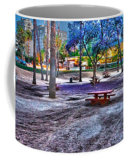 Benches Day In The Park Coffee Mug