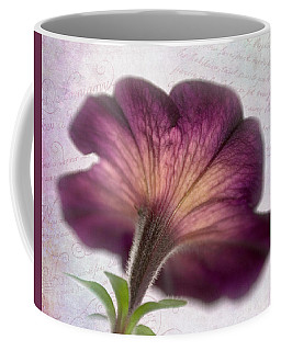 Coffee Mug featuring the photograph Beneath A Dreamy Petunia by David and Carol Kelly