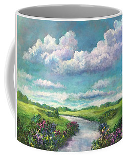 Beneath The Clouds Of Paradise Coffee Mug by Randy Burns