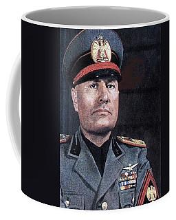 Benito Mussolini Color Portrait Circa 1935 Coffee Mug