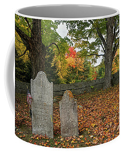 Coffee Mug featuring the photograph Benjamin Butler Grave by Wayne Marshall Chase