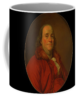 Coffee Mug featuring the painting Benjamin Franklin by Workshop Of Joseph Duplessis
