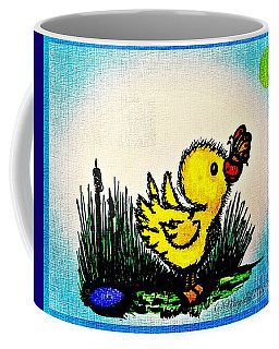 Benson Duck  With Butterfly   Coffee Mug by MaryLee Parker